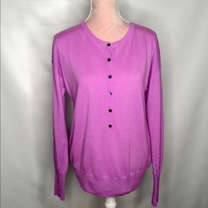 J. Crew light cashmere purple sweater.